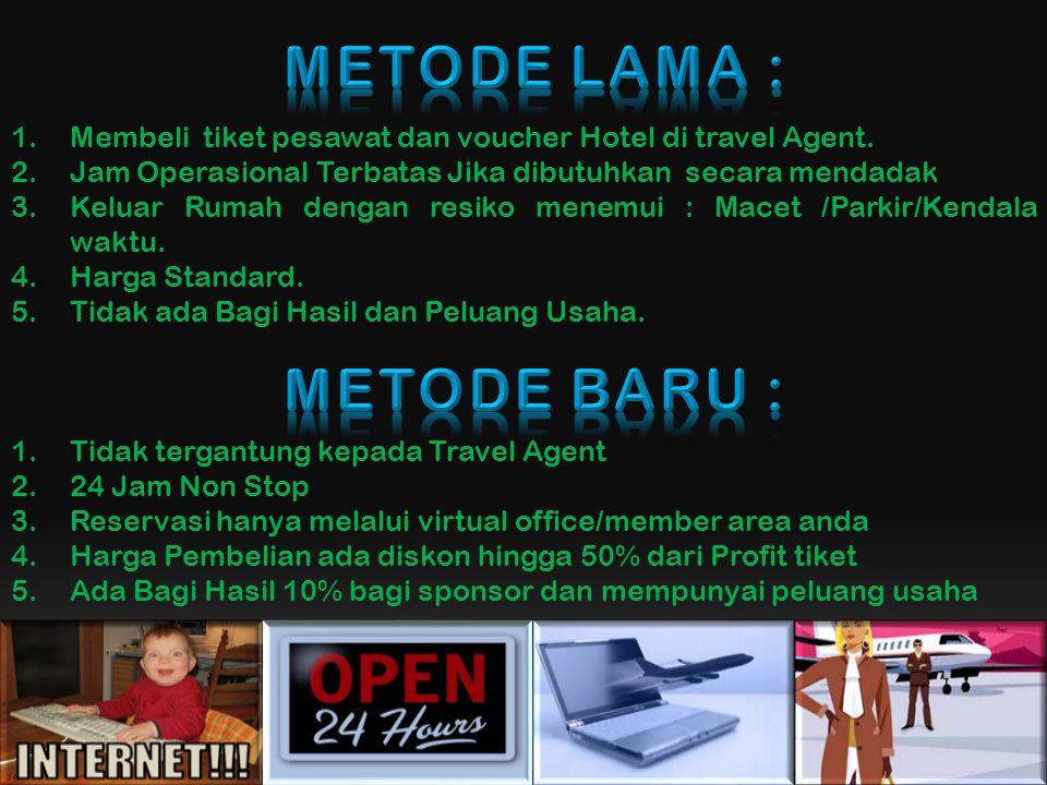 1.Membeli tiket pesawat dan voucher Hotel di travel Agent.
