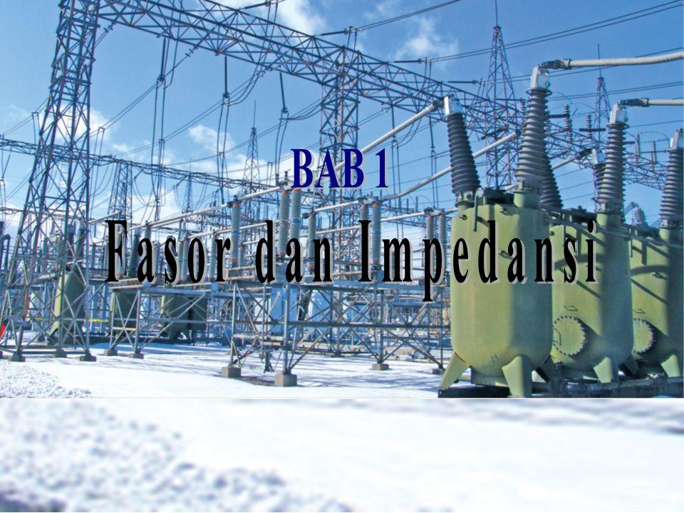 •Beban Induktif Pada sebuah beban : v(t) =120cos(314t + 20 o ) V i(t) = 5cos(314t  40 o ) A I V Re Im arus tertinggal dari tegangan Diagram Fasor