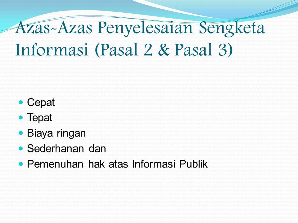 penyelesaian sengketa informasi publik (lanjutan) 15 Ketua KIP Pntpan Majelis Komisioner, Mediator, Panitera Pengganti Pntpn metode, tempat, agenda, jwl Ajudikasi Panitera Panggilan Sidang Plaks.