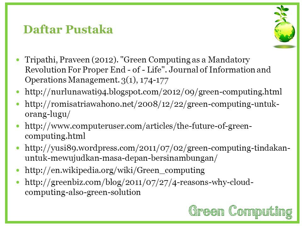 Daftar Pustaka  Tripathi, Praveen (2012).