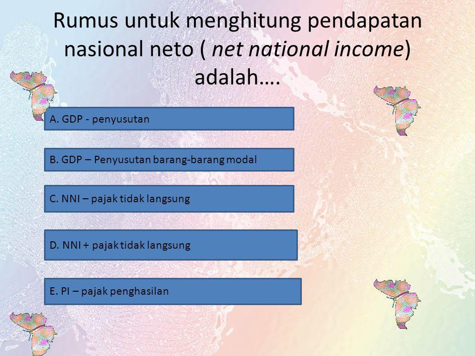 Disposible income adalah selisih perhitungan antara Personal income dan… A. Transfer payment B. Depresiasi barang modal C. Pajak tidak langsung D. Uta