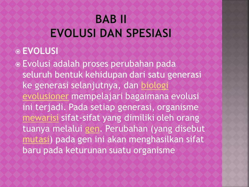  Fosil  Perbandingan embriologi  Analogi dan homologi organ  Organ tubuh yang tersisa  Petunjuk biokimia  Adanya variasi dalam satu keturunan