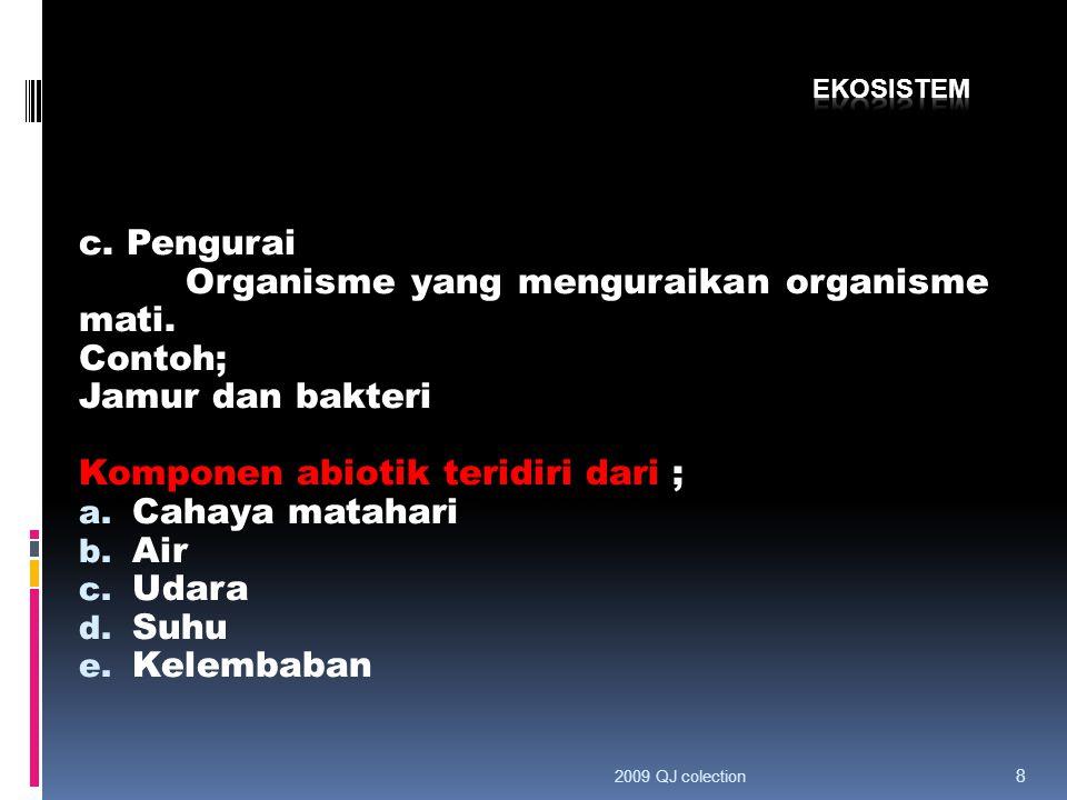 c.Pengurai Organisme yang menguraikan organisme mati.