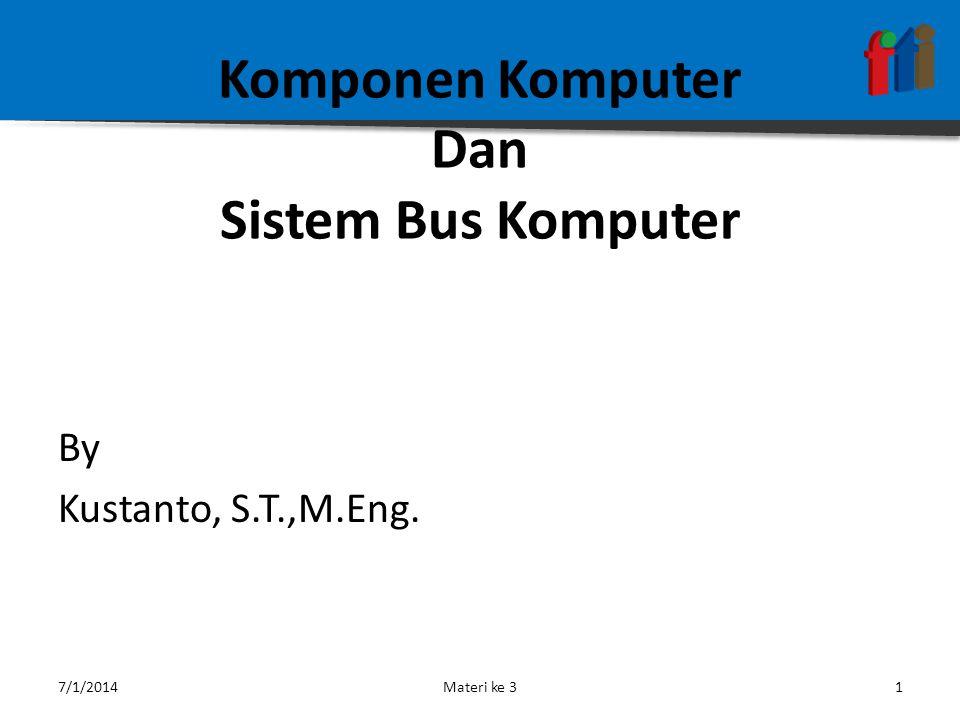 21 Bus & Sistem Interkoneksi Control BUS : Sebagai sarana pembawa signal kontrol antara microprocessor dan peralatan pendukung didalam kesinambungan komunikasi antara bagian pada sistem komputer tersebut.