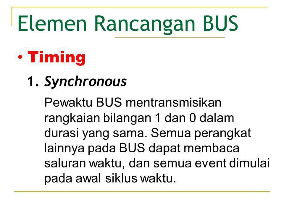 Elemen Rancangan BUS Terjadinya sebuah event pada bus mengikuti dan tergantung pada event sebelumnya.