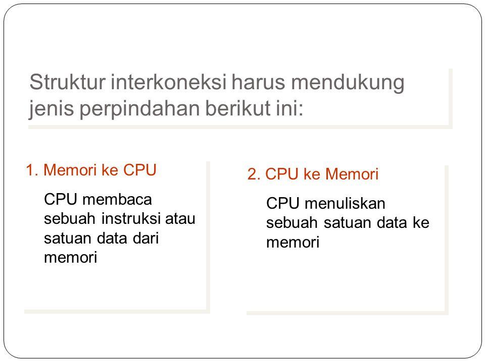 Struktur interkoneksi harus mendukung jenis perpindahan berikut ini: 1.