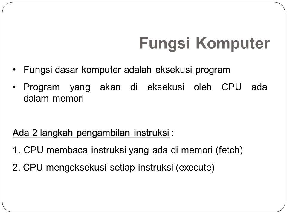 3.I/O ke CPU CPU membaca data dari perangkat I/O melalui sebuah modul I/O 3.