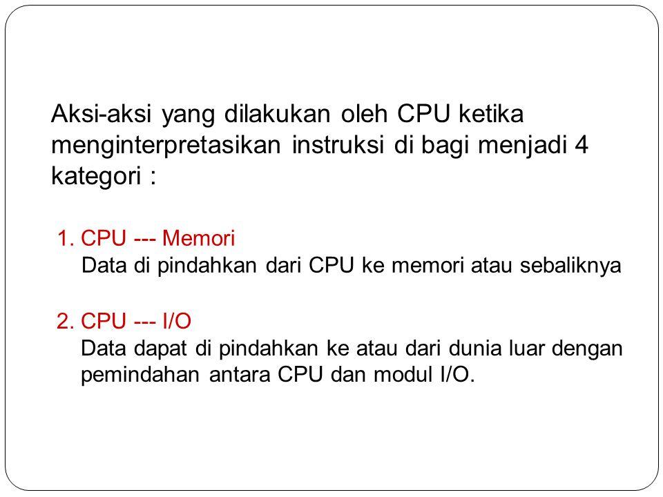 3.Pengolahan data CPU dapat membentuk sejumlah operasi aritmatik /logik.