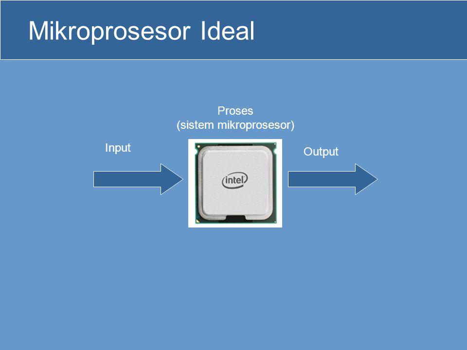 Sistem Mikroprosesor •Pada kenyataannya mikroprosesor tidak dapat bekerja sendiri, tetapi memerlukan beberapa unit-unit yang terpisah.
