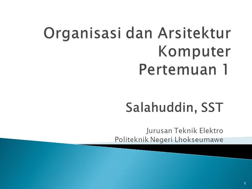 Salahuddin, SST Jurusan Teknik Elektro Politeknik Negeri Lhokseumawe 1