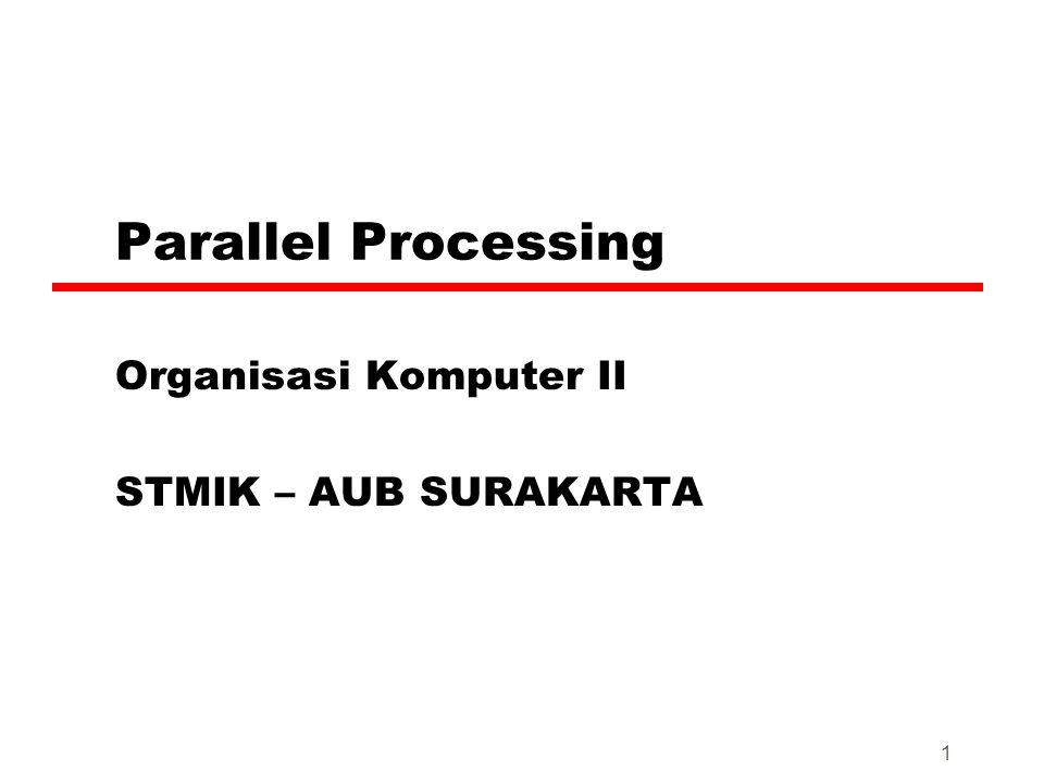 1 Parallel Processing Organisasi Komputer II STMIK – AUB SURAKARTA
