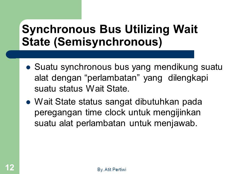 "By. Atit Pertiwi 12 Synchronous Bus Utilizing Wait State (Semisynchronous)  Suatu synchronous bus yang mendikung suatu alat dengan ""perlambatan"" yang"