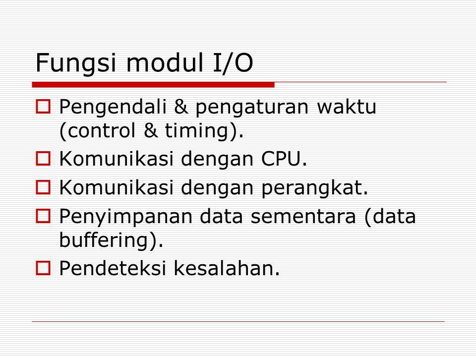 Control & timing input data  CPU meminta modul memeriksa status perangkat.
