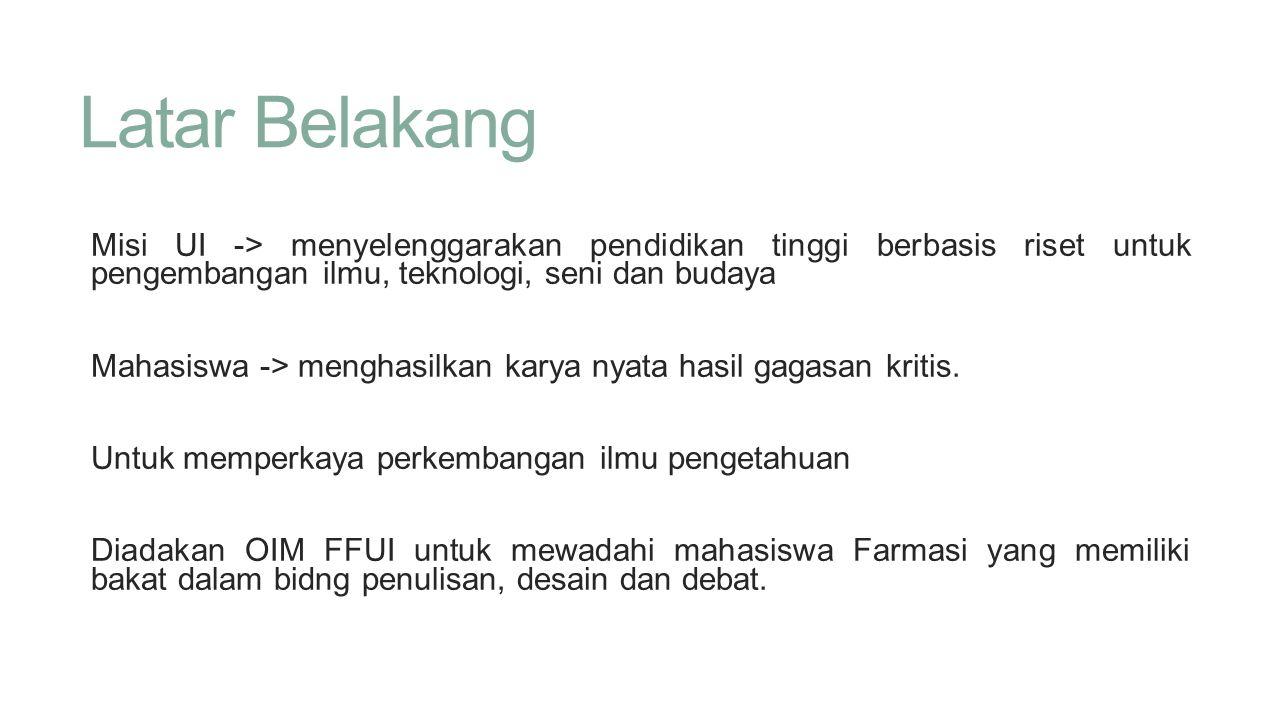FAQ •Sistem juara di PKM gimana.