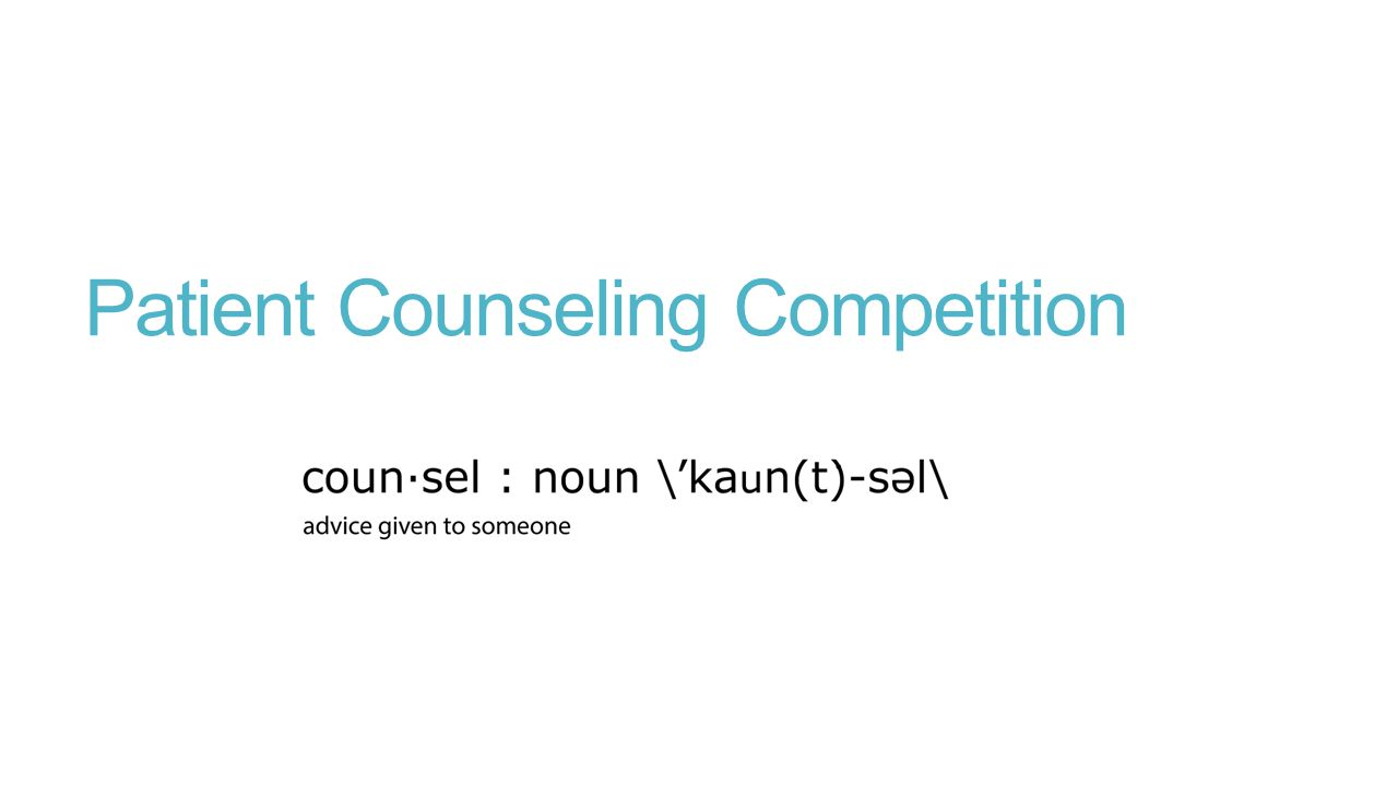 Patient Counseling Competition