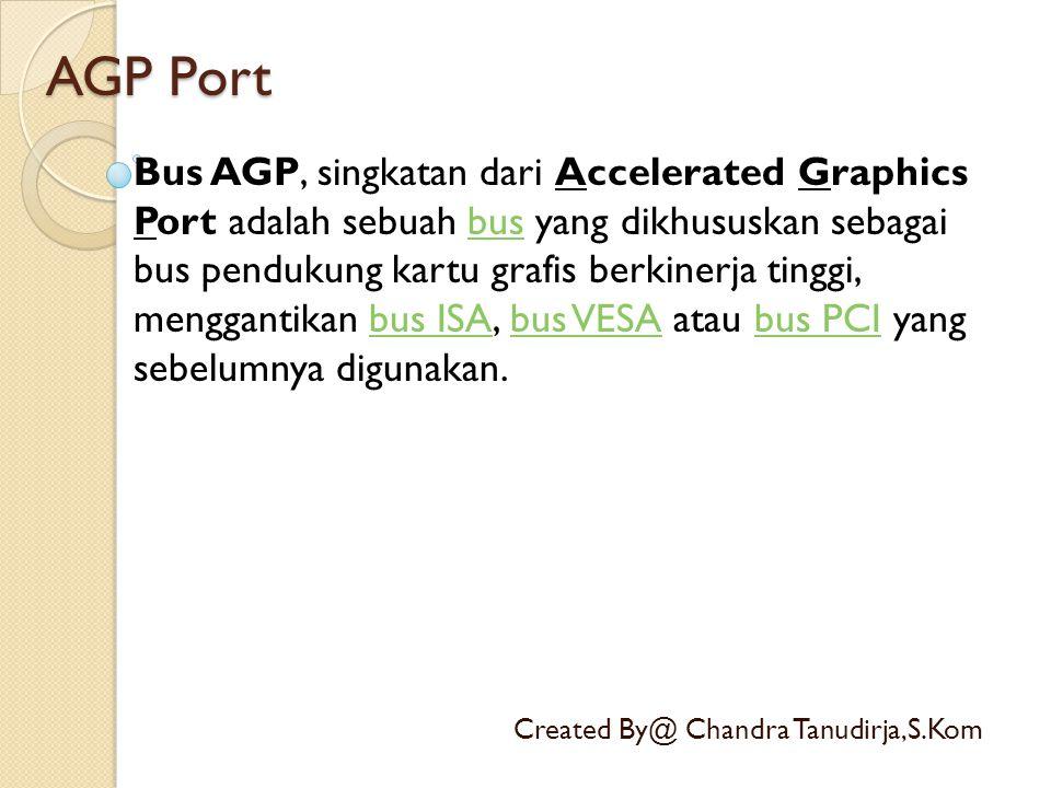 COM Port Created By@ Chandra Tanudirja,S.Kom