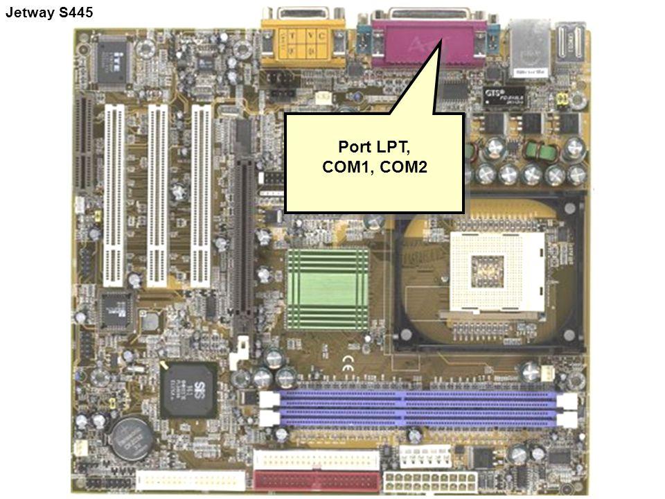 Port LPT, COM1, COM2 Port LPT, COM1, COM2 Jetway S445