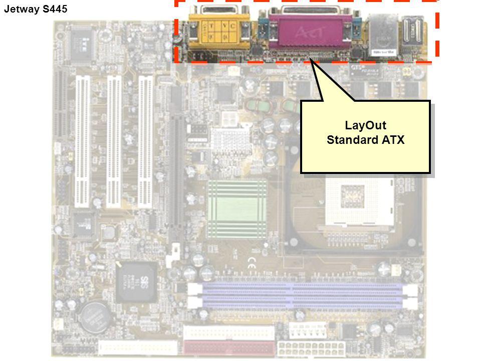 LayOut Standard ATX LayOut Standard ATX Jetway S445
