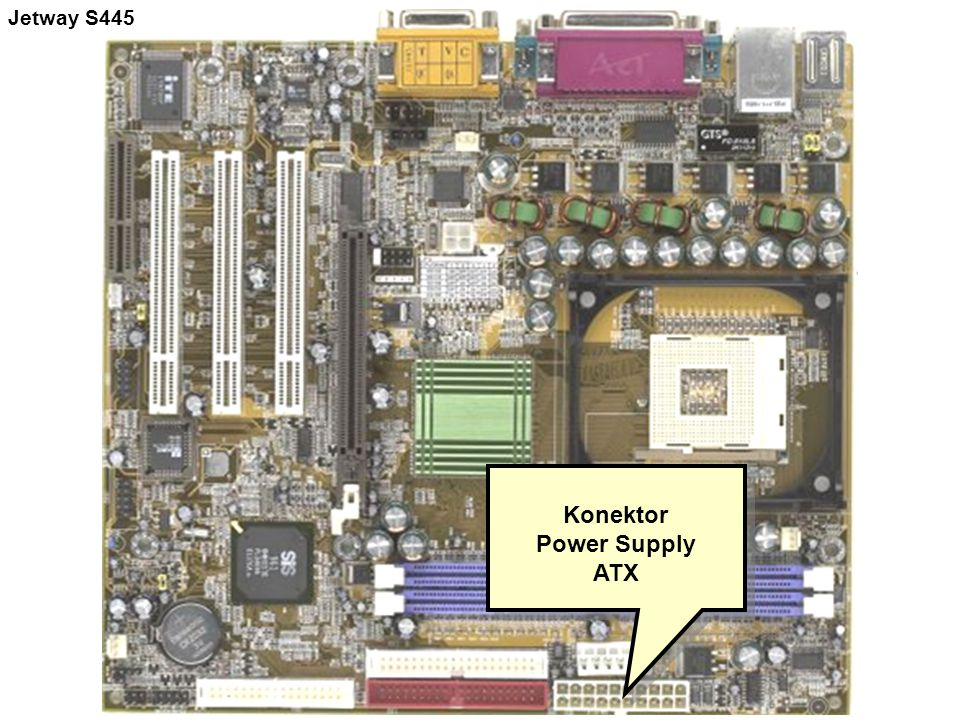 Konektor Power Supply ATX Konektor Power Supply ATX Jetway S445