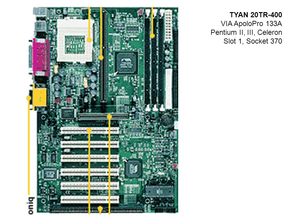 TYAN 20TR-400 VIA ApoloPro 133A Pentium II, III, Celeron Slot 1, Socket 370