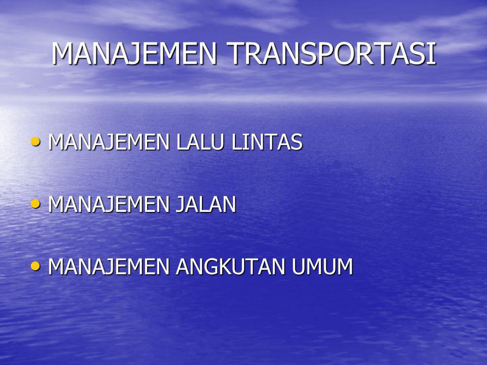 TRAVEL DEMAND MANAGEMENT Contoh: kota Jakarta, setiap hari lebih 700 kendaraan baru, atau setara dengan 3 km lajur jalan jika kendaraan itu diparkir berjajar, atau sekitar 6 km jika semua kendaraan itu berjalan di jalan.