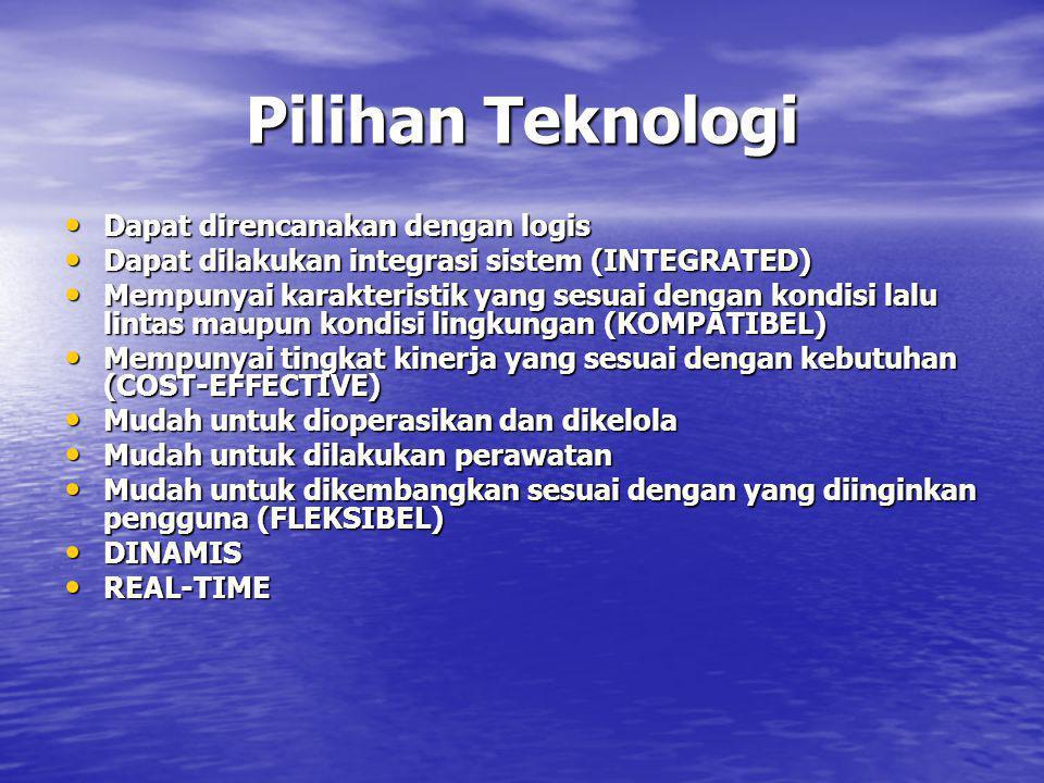 Pilihan Teknologi • Dapat direncanakan dengan logis • Dapat dilakukan integrasi sistem (INTEGRATED) • Mempunyai karakteristik yang sesuai dengan kondi