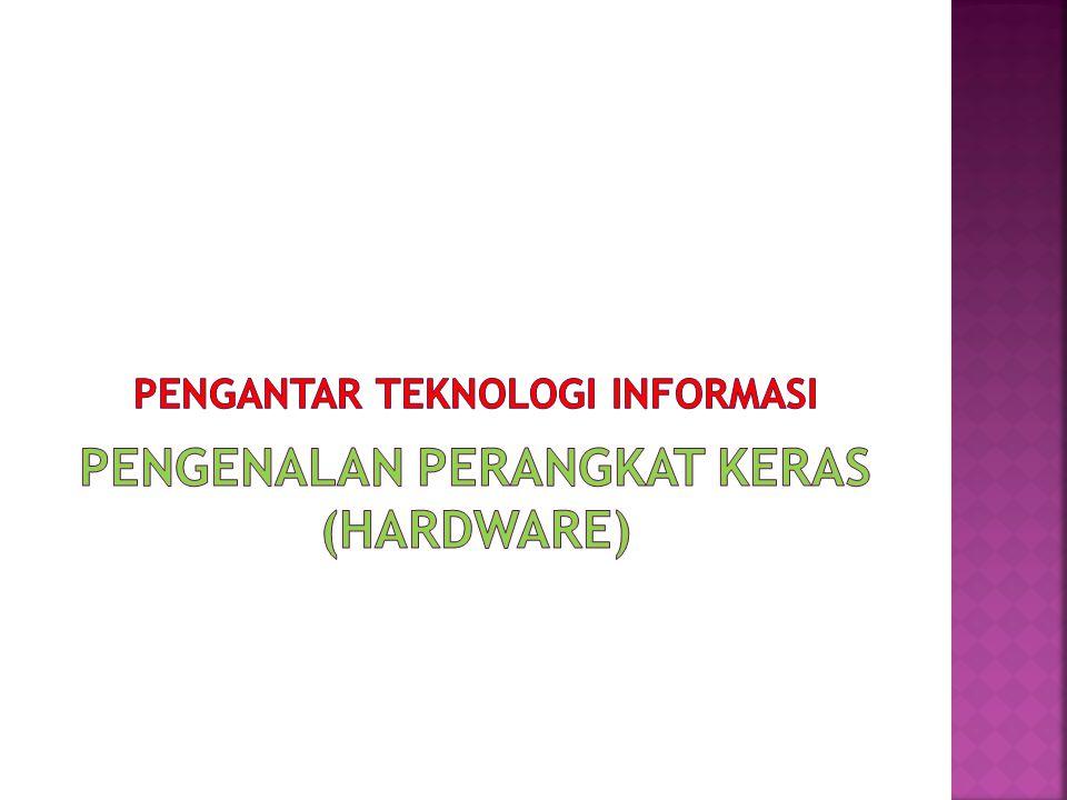  Magnetic Disk  Hard Disk  Floppy Disk (Diskette) Optical Storage  Representasi data dalam memori : binary digit