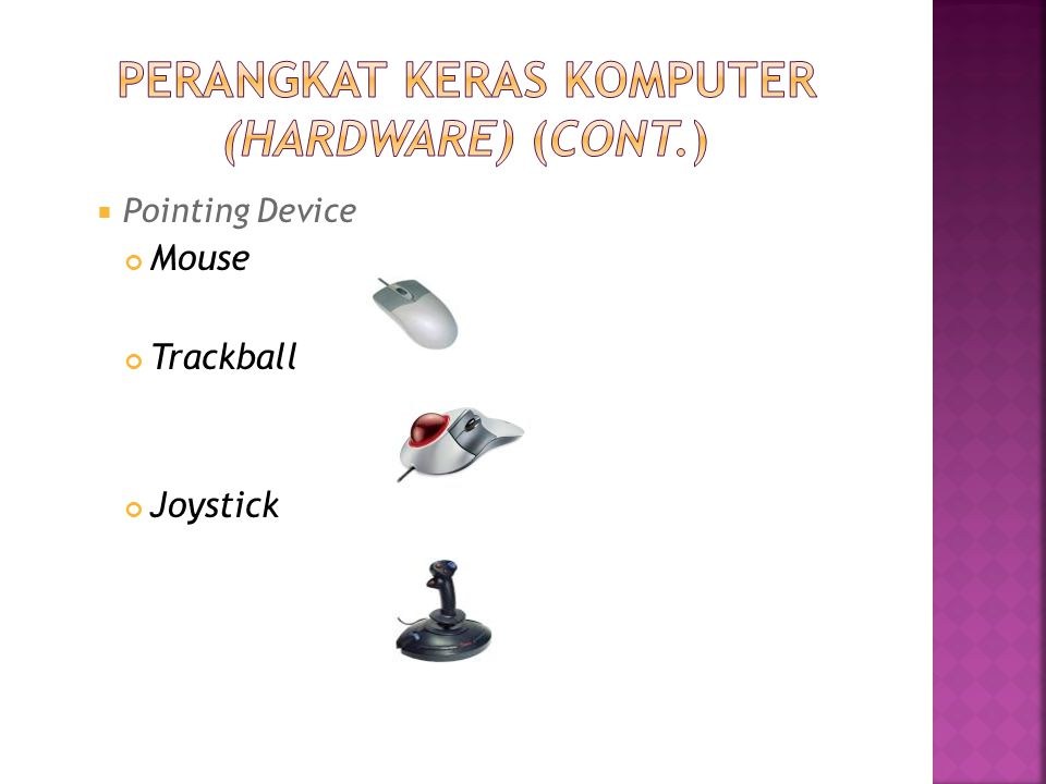  Pointing Device Mouse Trackball Joystick
