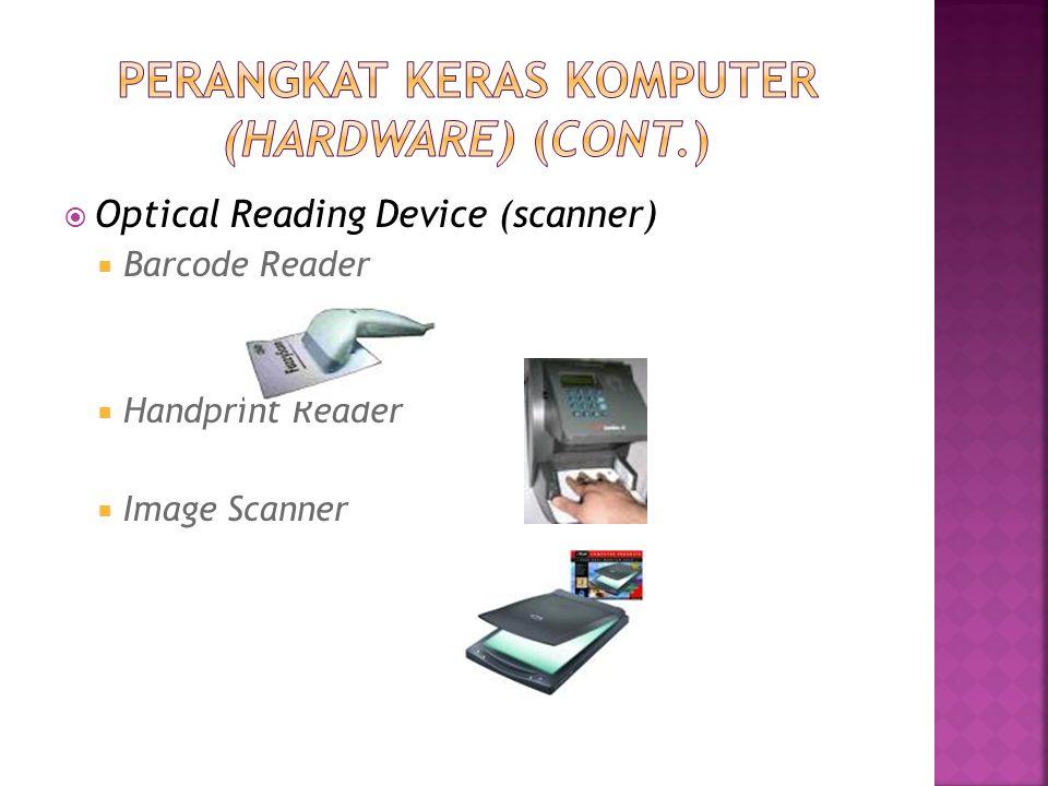  Optical Reading Device (scanner)  Barcode Reader  Handprint Reader  Image Scanner