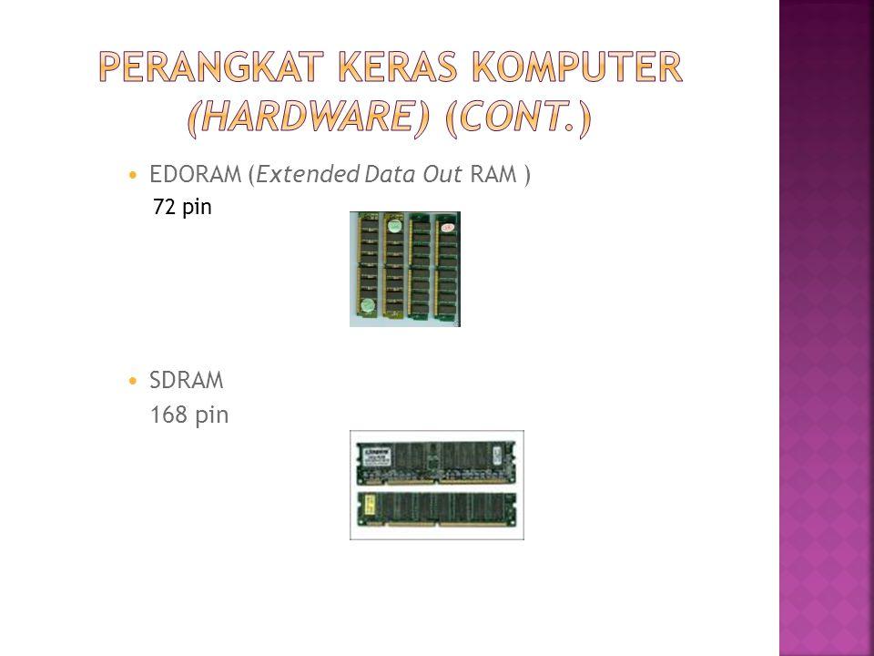  EDORAM (Extended Data Out RAM ) 72 pin  SDRAM 168 pin
