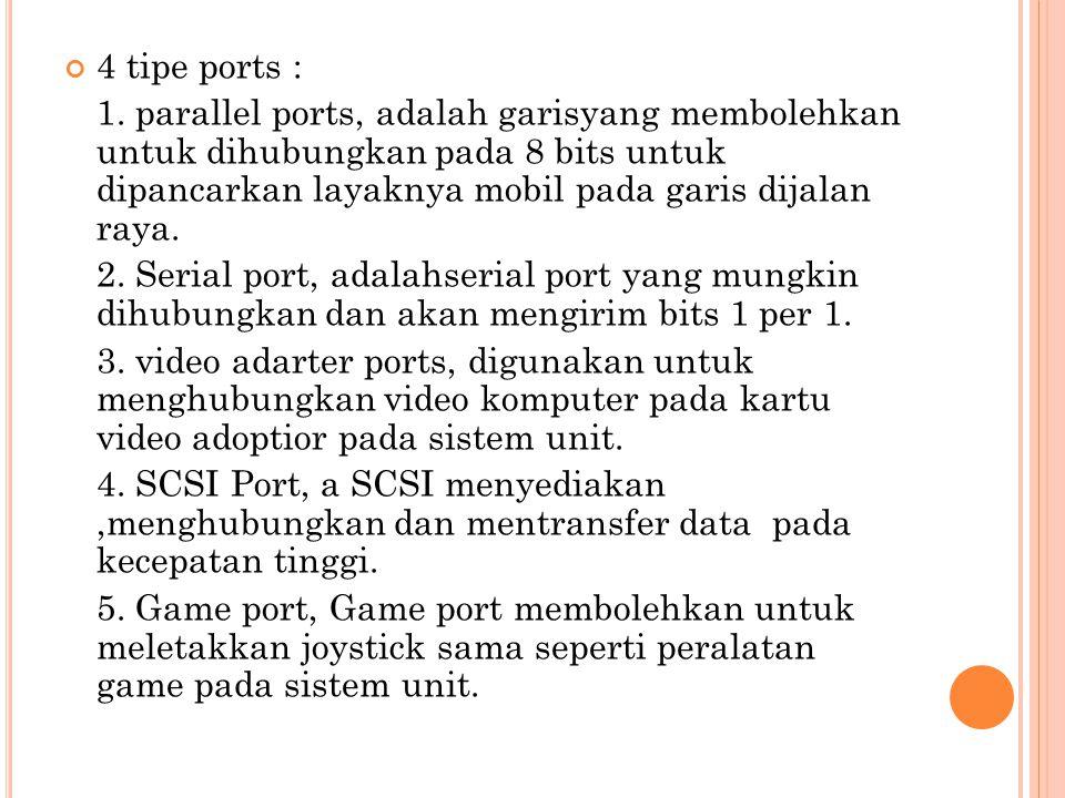 4 tipe ports : 1.