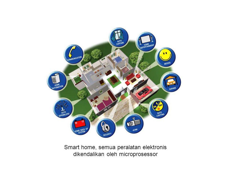 Smart home, semua peralatan elektronis dikendalikan oleh microprosessor