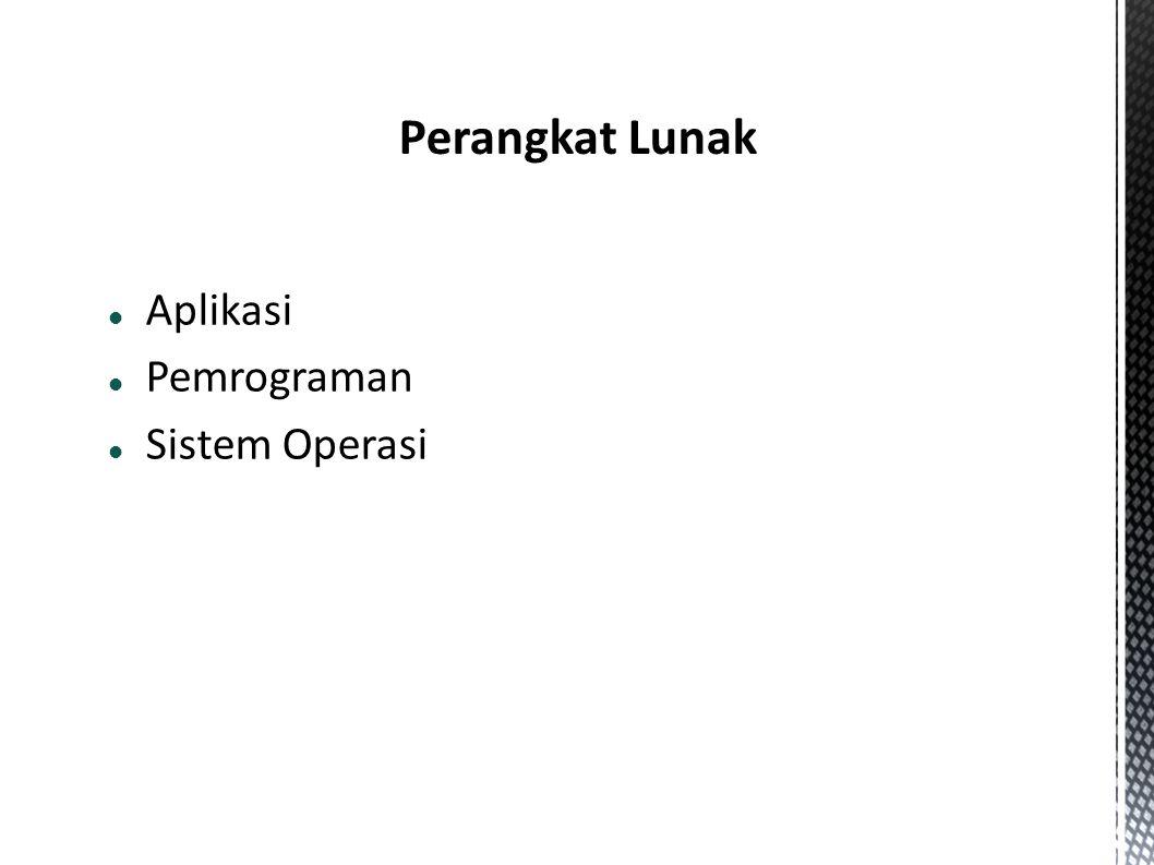  Aplikasi  Pemrograman  Sistem Operasi