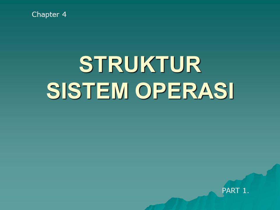 STRUKTUR SISTEM OPERASI Chapter 4 PART 1.