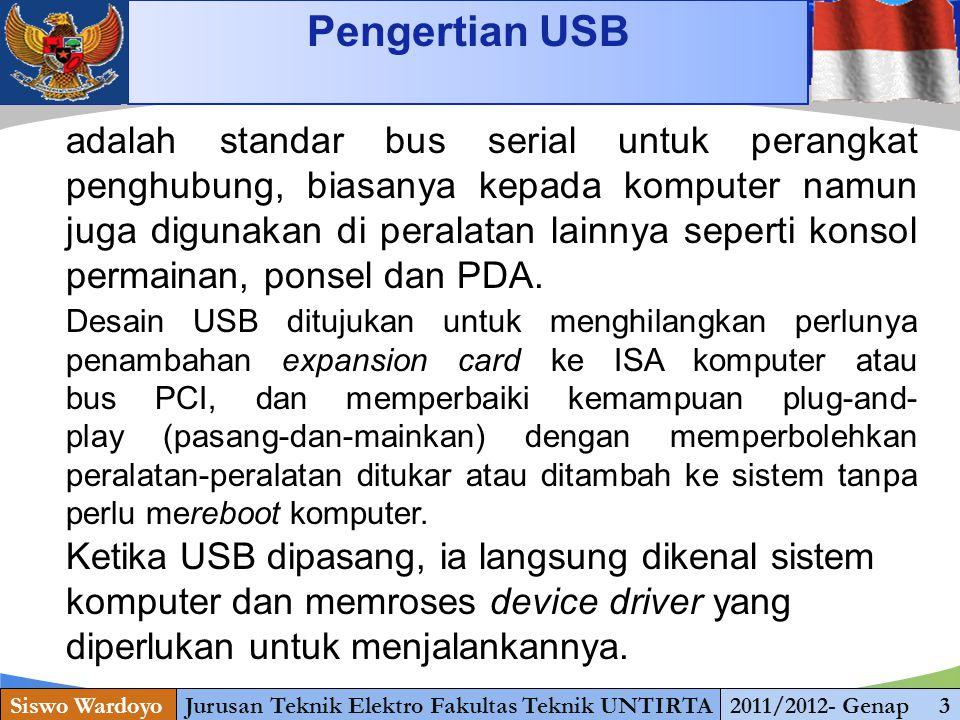 www.themegallery.com Type of USB Connector Siswo WardoyoJurusan Teknik Elektro Fakultas Teknik UNTIRTA2011/2012- Genap 3