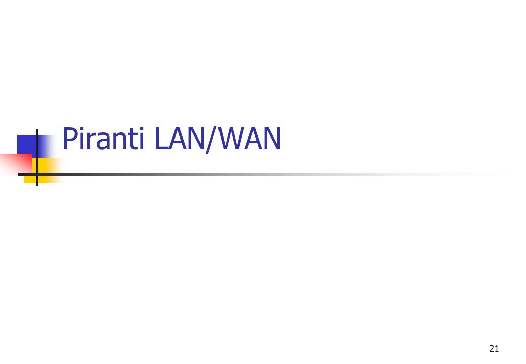 21 Piranti LAN/WAN