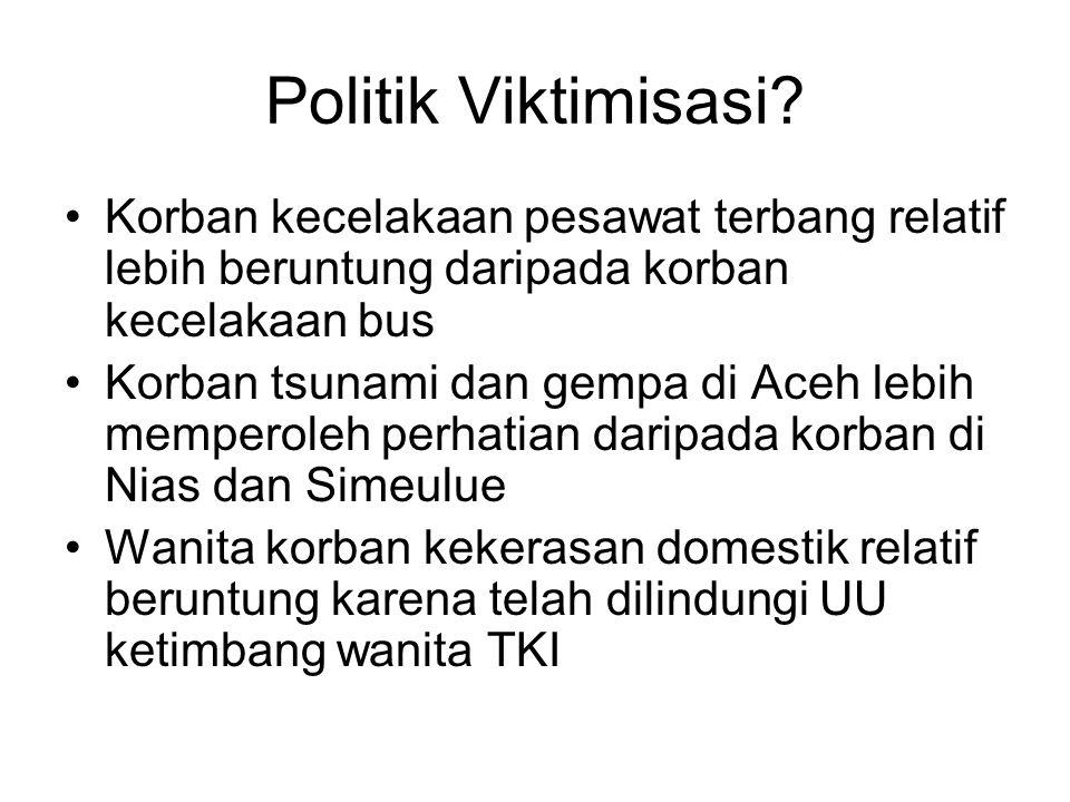 Politik Viktimisasi.