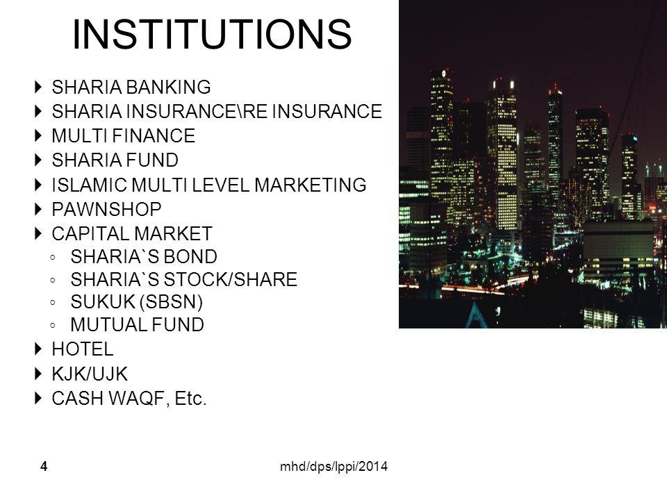 INSTITUTIONS 4 SS HARIA BANKING SS HARIA INSURANCE\RE INSURANCE MM ULTI FINANCE SS HARIA FUND II SLAMIC MULTI LEVEL MARKETING PP AWNSHOP CC APITAL MARKET ◦S◦S HARIA`S BOND ◦S◦S HARIA`S STOCK/SHARE ◦S◦S UKUK (SBSN) ◦M◦M UTUAL FUND HH OTEL KK JK/UJK CC ASH WAQF, Etc.