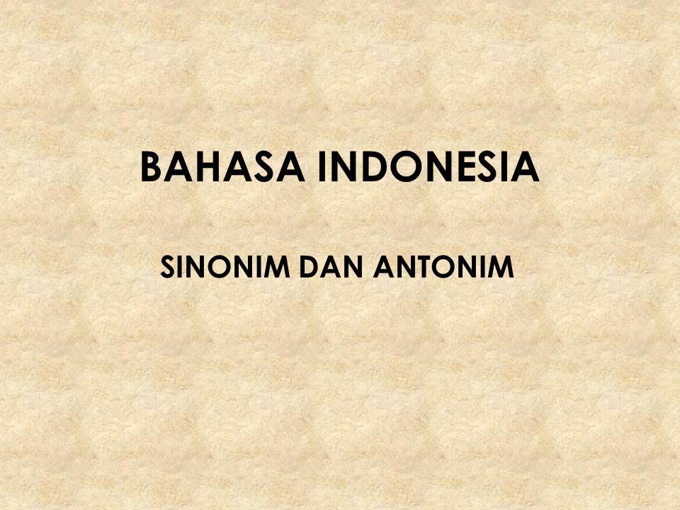 SINONIM Sinonim  berasal dari bahasa Yunani Kuno Syn  berarti dengan dan Onoma  berarti nama.