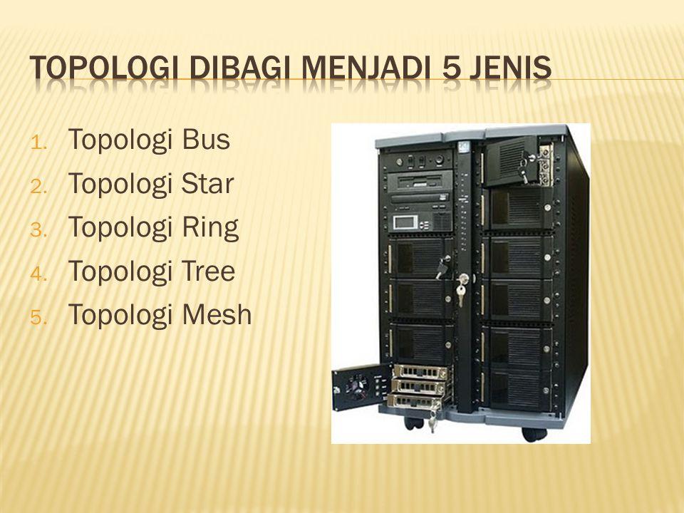 1. Topologi Bus 2. Topologi Star 3. Topologi Ring 4. Topologi Tree 5. Topologi Mesh