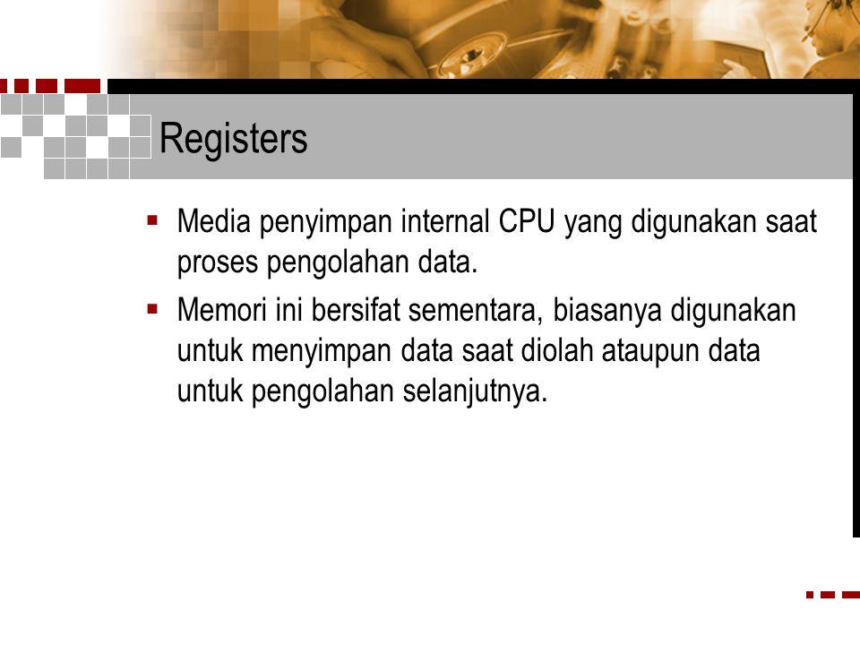 CPU Interconnections  Sistem koneksi dan bus yang menghubungkan komponen internal dan bus-bus eksternal CPU  Komponen internal CPU yaitu ALU, unit kontrol dan register-register  Komponen eksternal CPU : sistem lainnya, seperti memori utama, piranti masukan/keluaran