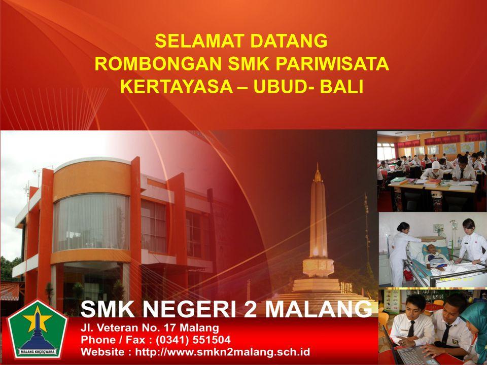 IDENTITAS SEKOLAH 1.Nama Sekolah: SMK NEGERI 2 MALANG 2.Status: NEGERI 3Nama Kepala Sekolah: Drs.