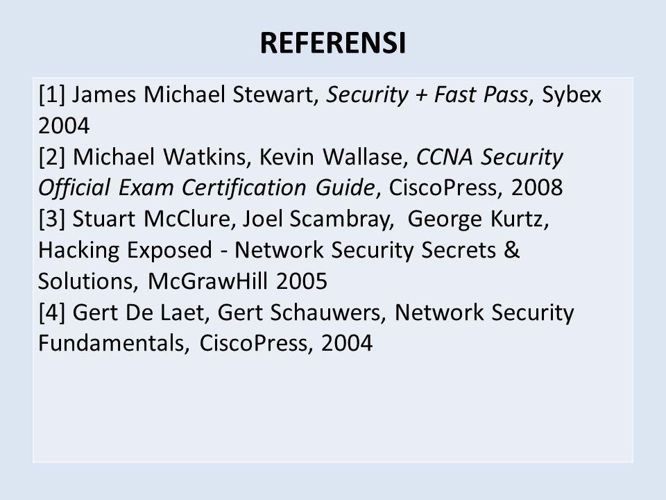 Authentication • Meyakinkan keaslian data, sumber data, orang yang mengakses data, server yang digunakan.