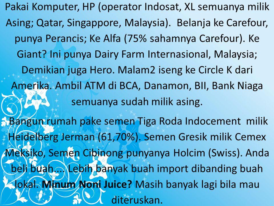 Saatnya Indonesia Bangkit..Caranya . HANYA Menggunakan Produk Indonesia..