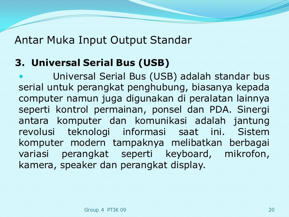 Antar Muka Input Output Standar 3.