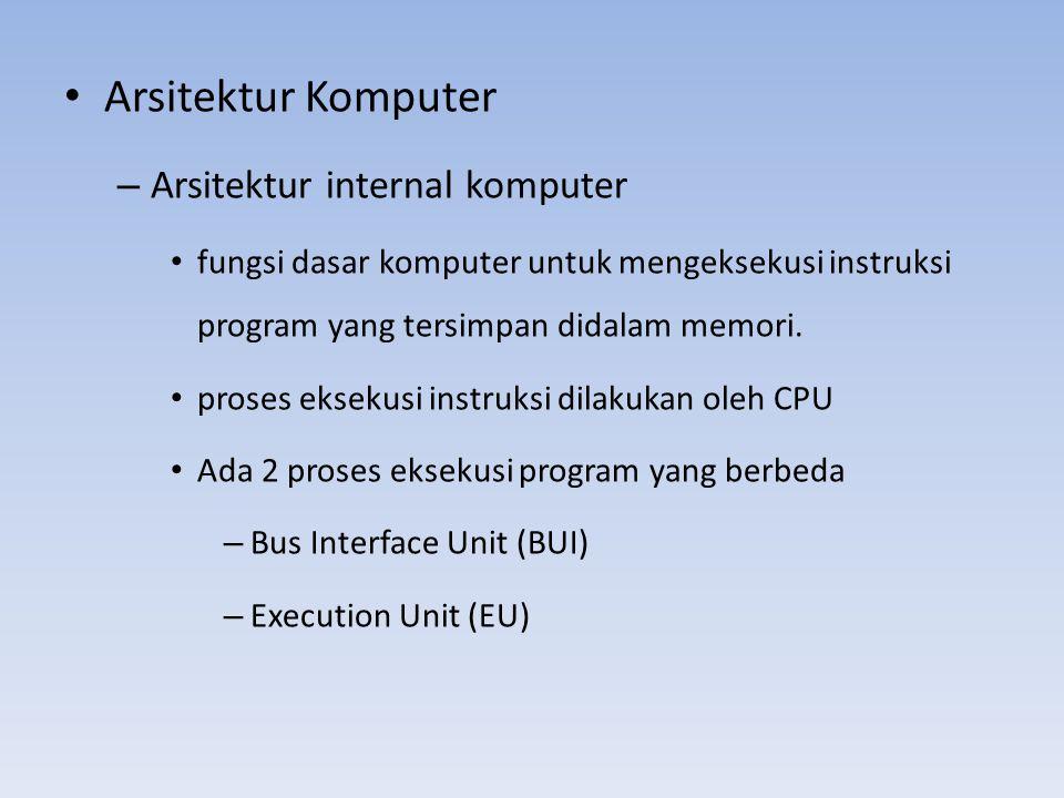 • Arsitektur Komputer – Arsitektur internal komputer • fungsi dasar komputer untuk mengeksekusi instruksi program yang tersimpan didalam memori. • pro