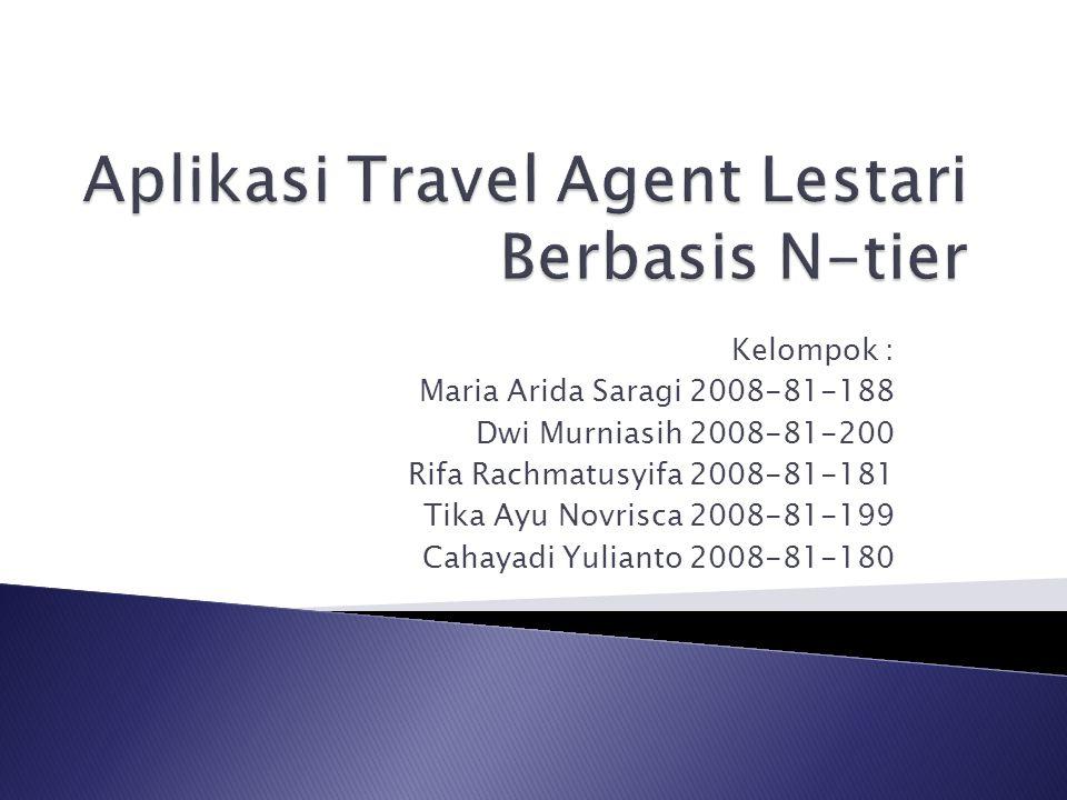Kelompok : Maria Arida Saragi 2008-81-188 Dwi Murniasih 2008-81-200 Rifa Rachmatusyifa 2008-81-181 Tika Ayu Novrisca 2008-81-199 Cahayadi Yulianto 200