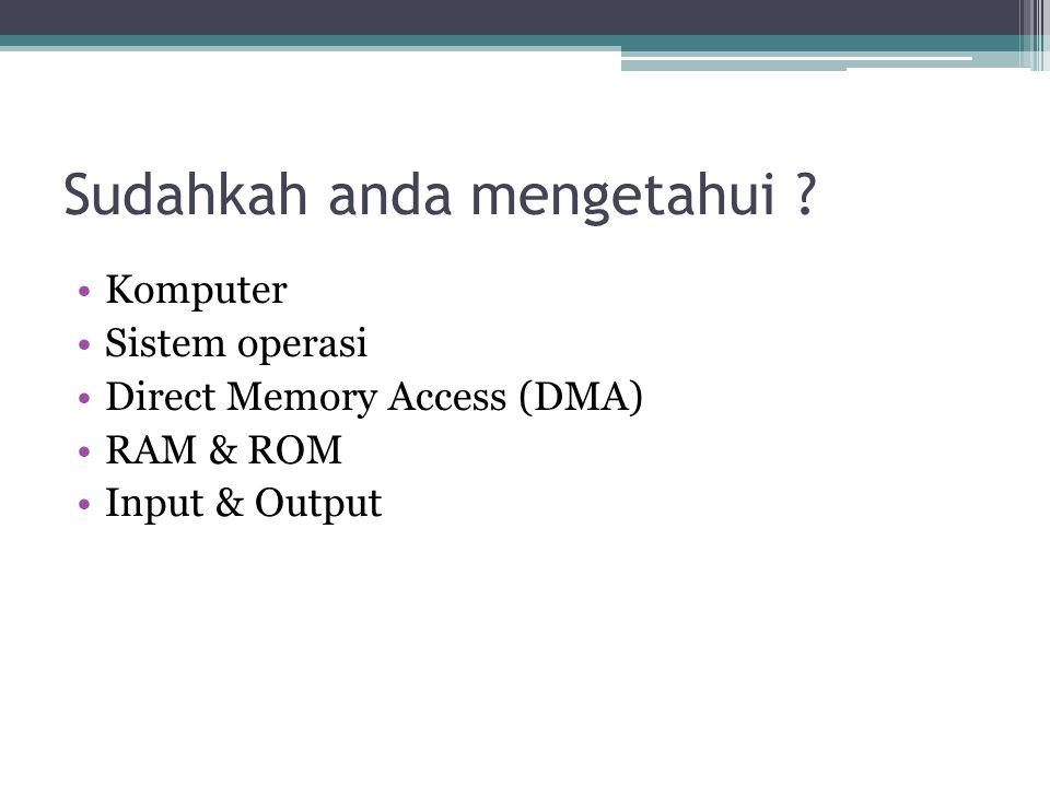 Definisi Sistem Operasi •Sistem Operasi didefinisikan sebagai sebuah program yang mengatur perangkatkeras komputer, dengan menyediakan landasan untuk aplikasi yang berada di atasnya, serta bertindak sebagai penghubung antara para pengguna dengan perangkat keras.