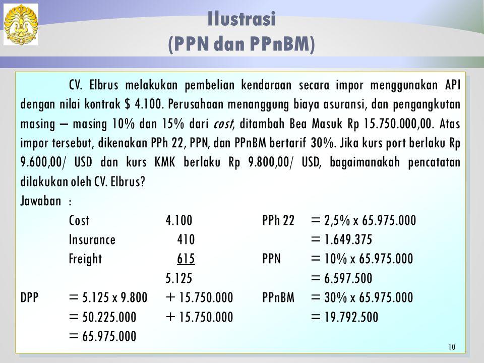 Nilai Perolehan, PPN, dan PPnBM Pembayaran atas Perolehan Aset Komponen yang Dikapitalisasi Biaya Pokok Aset Biaya Pendukung (Instalasi, Angkutan) Kom