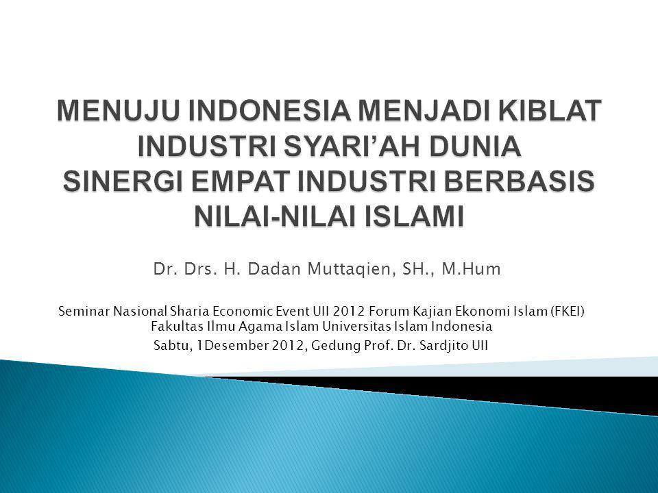 Dr. Drs. H. Dadan Muttaqien, SH., M.Hum Seminar Nasional Sharia Economic Event UII 2012 Forum Kajian Ekonomi Islam (FKEI) Fakultas Ilmu Agama Islam Un